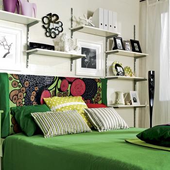 дизайн однокомнатной квартире кровать для девушки