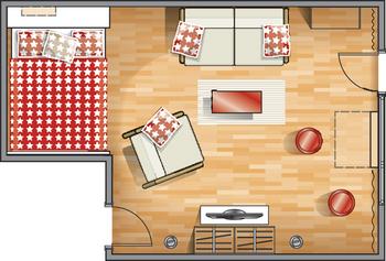 планировка однокомнатной квартире