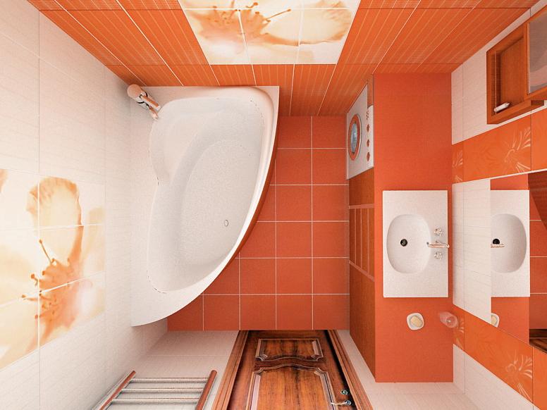 дизайн для ванной в розовых тонах
