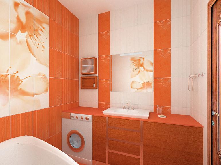 дизайн для уборной комнаты в розовых тонах