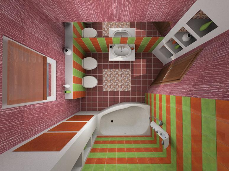 дизайн для совмещенной ванной