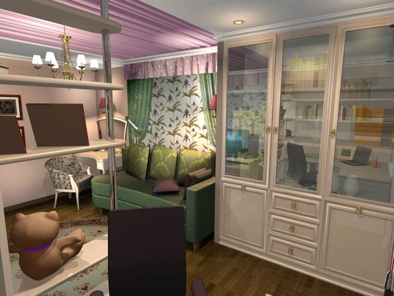 дизайн для гостиной с разделением зон