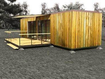 модульный дом из двух бытовок