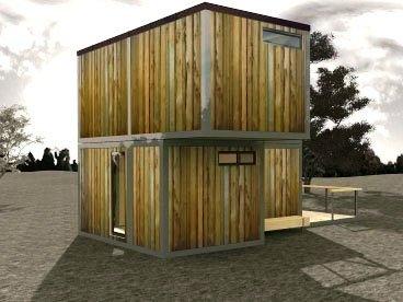 модульный дом трех бытовок