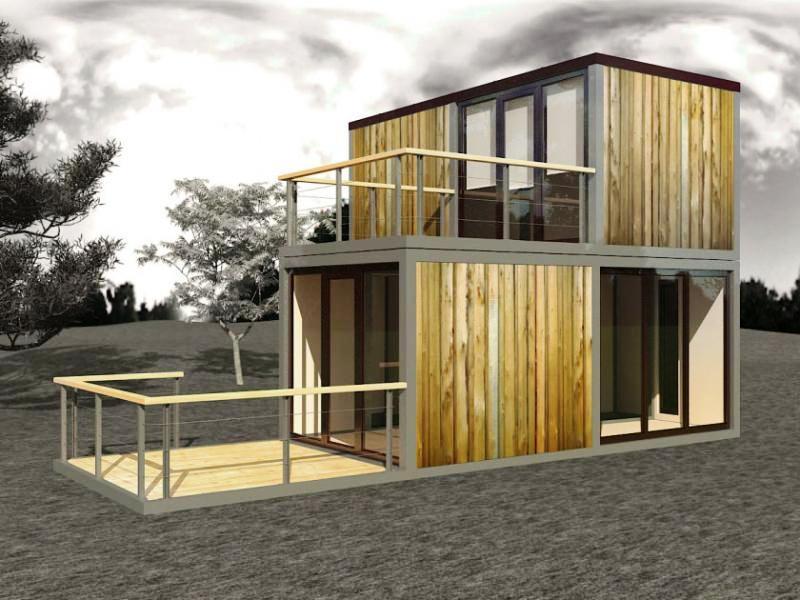 модульный дом из бытовок дизайн