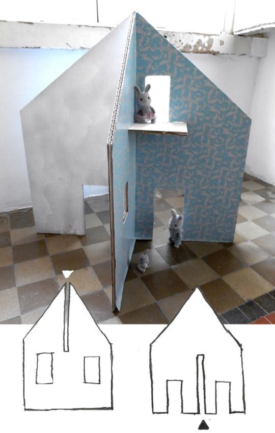 ракета из картона для детская комната