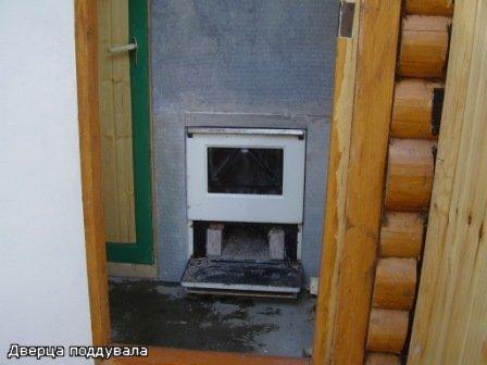 Баня своими руками печка из газовой плиты