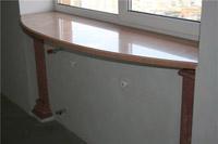 маленькая кухня стол из подоконника