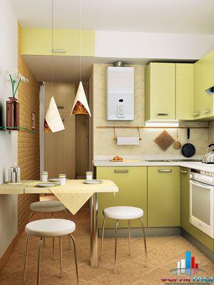 дизайн однушки в хрущевки кухня