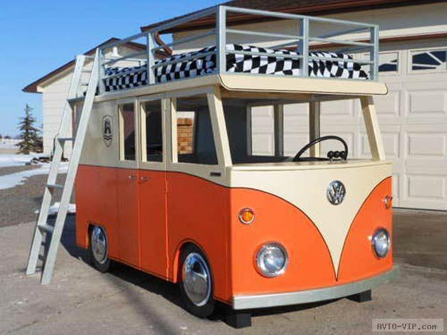 кровать микро автобус фольцваген