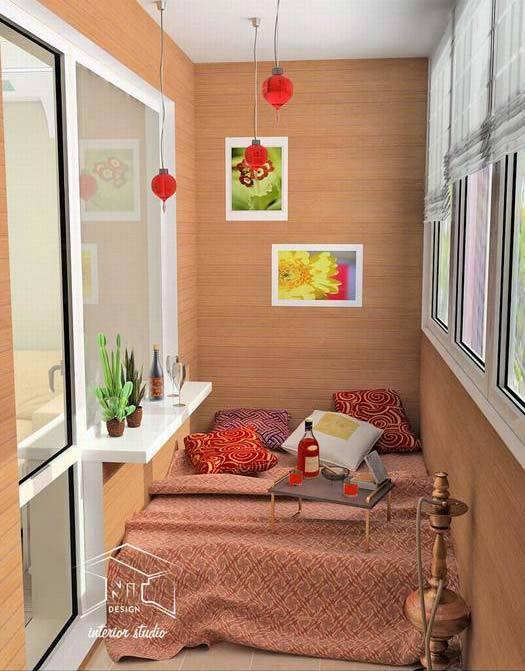 дополнительная спальня на балконе