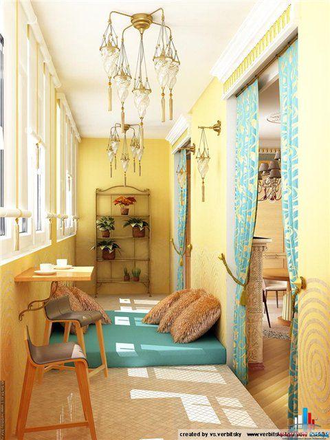 маленькая комнаа из балконе