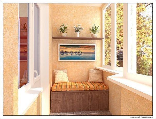 интерьер для балкона