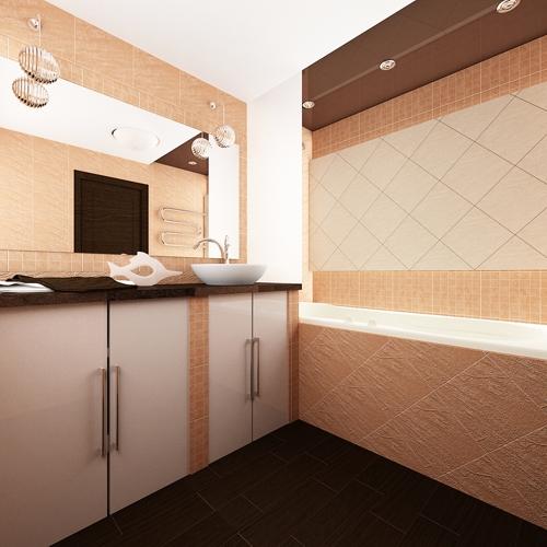 дизайн ванной комнаты двухкомнатной хрущевки