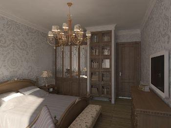 красивый дизайн для просторной спальной комнаты