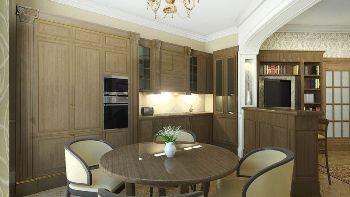 Дизайн трех комнатной квартиры - Столовая