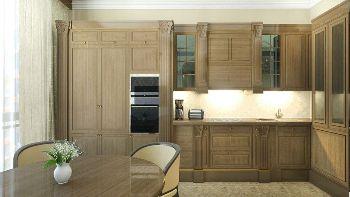 Дизайн для трех комнатной квартиры - огромная красивая кухня