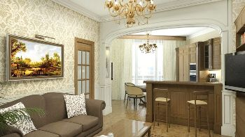 проект гостинной в классическом стиле