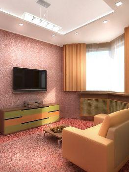 зонирование  в гостиной