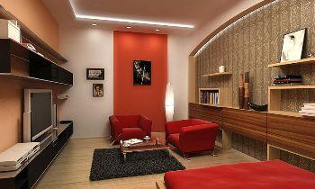 дизайн для зала с разделением зон