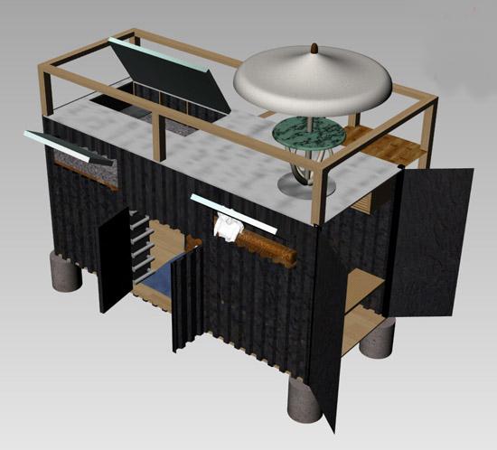 дом для дачи из контейнера
