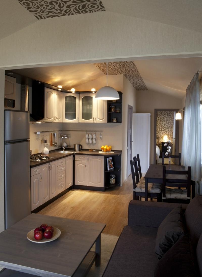 мобильный дом - кухня с боку