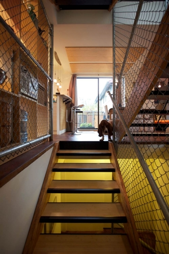 внутренняя отделка дом из бытовок лестница
