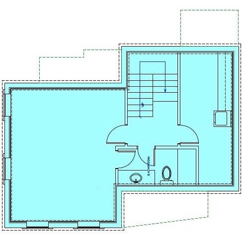 коттедж из бытовок план первого этажа