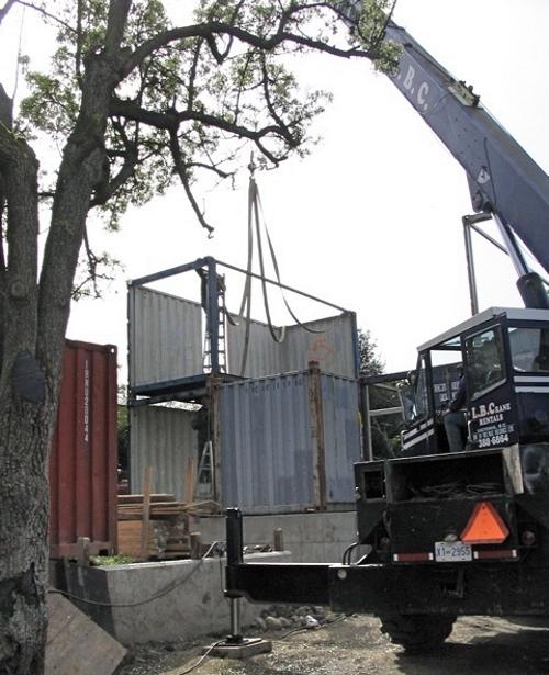 постройка дома из контейнеров