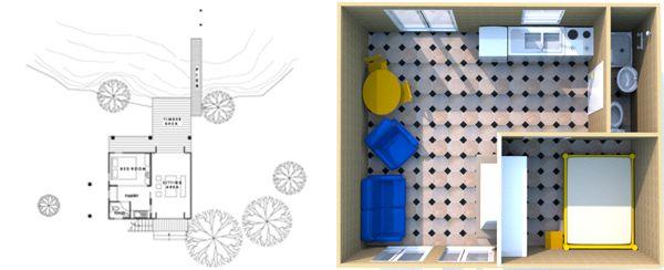 дом из контейнеров план дизайн