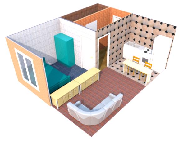дом из двух бытовок