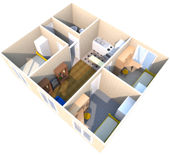дачный дом из трех бытовок