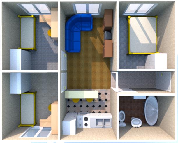 дом из бытовок план