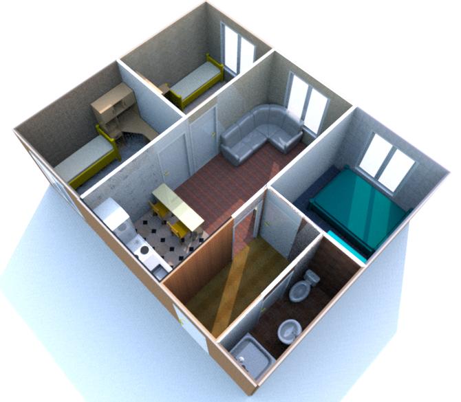 дачный дом из бытовок план