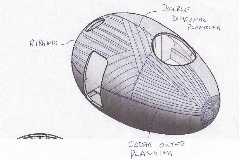 Плавучая дача в форме яйца