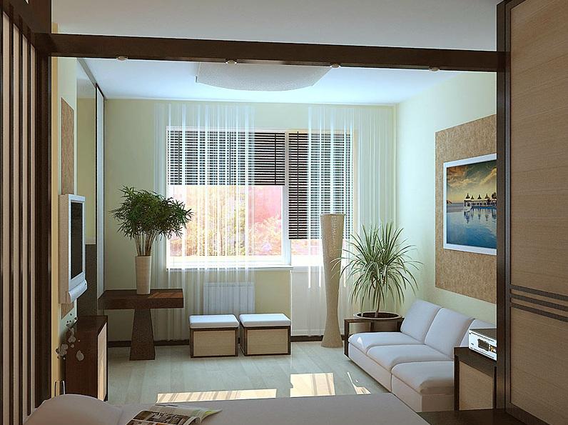 Дизайнерская планировка гостиная