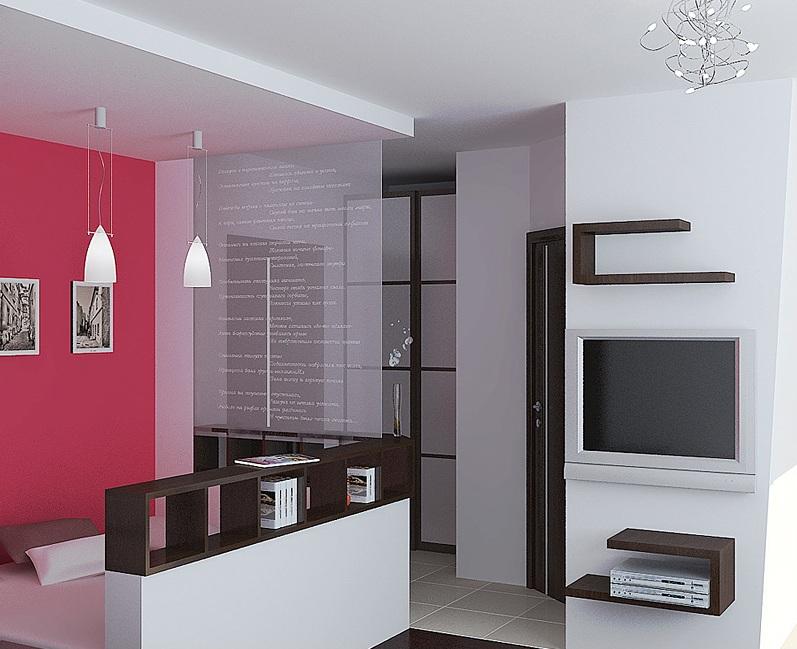 дизайн гостиной в однушке