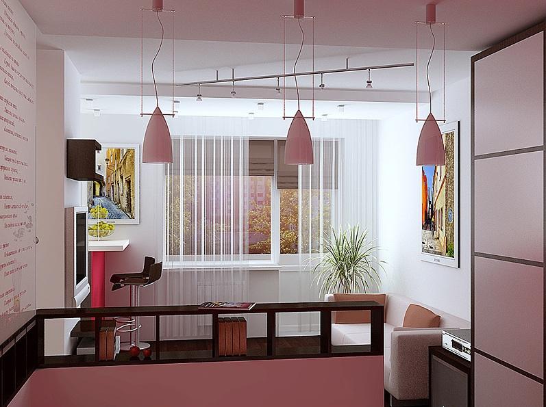 дизайн гостиной-спальня для однушки