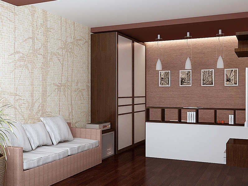 гостиной-спальня для однушки
