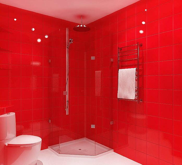 дизайнерская ванная в однокомнатной квартире