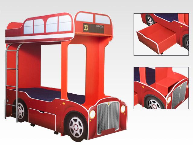 двух ярусная кровать для детей автобус