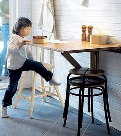складной стол маленькая кухня