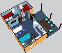 модульный дом из вагончиков