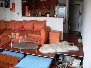 маленькая квартира гостинная