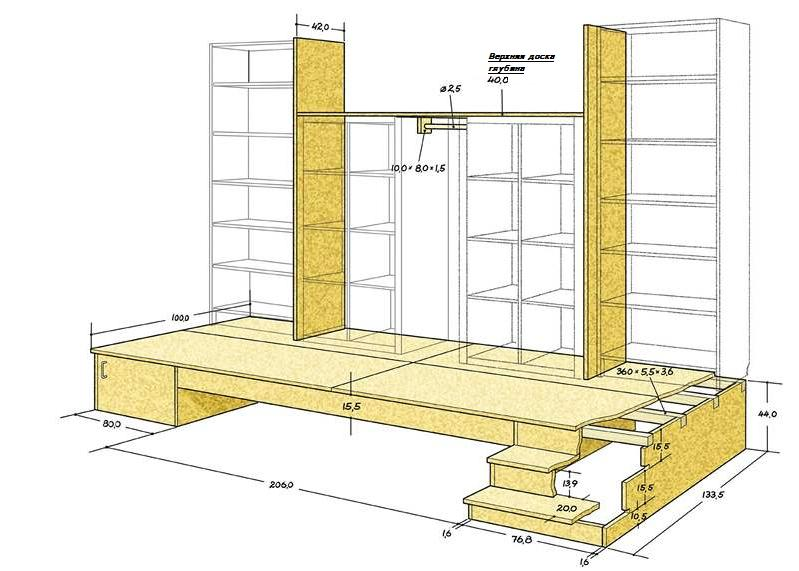 план постройки подиума