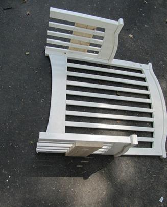 Скамейка делаем из старой кроватки