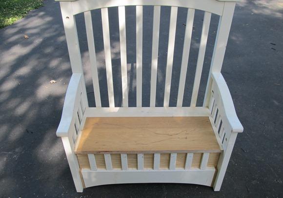 Скамейка своими руками из старой кроватки