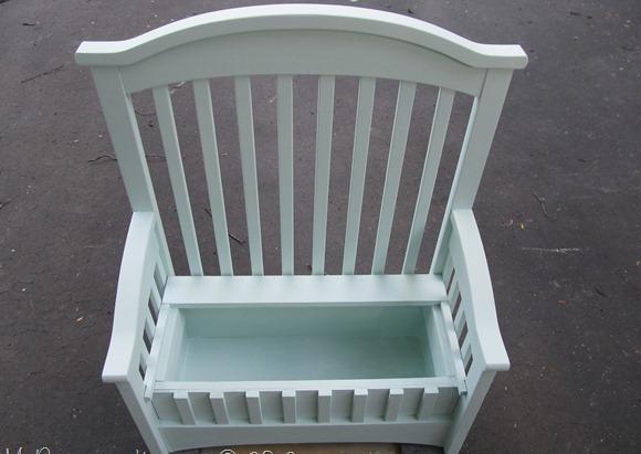 Скамейка из старой кроватки своими руками