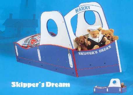 кровать для мальчиков кораблик