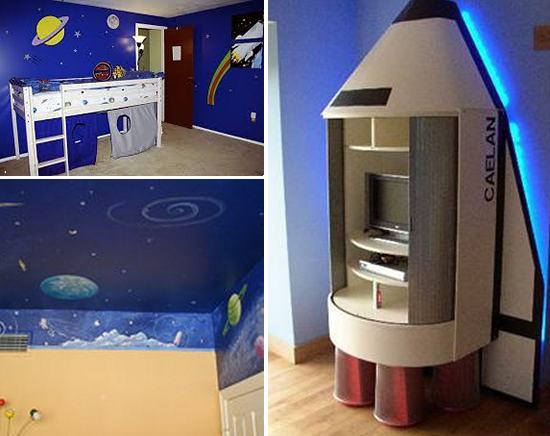 стилизация детской комнаты под космос